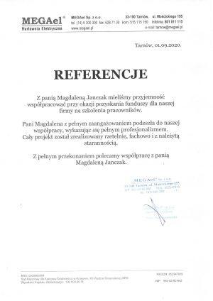 Magdalena-Janczak-referencje-MEGAel
